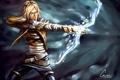 Картинка Warrior, League of Legends, blonde, belt
