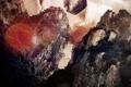 Картинка деревья, скалы, шум, блик