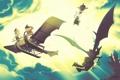 Картинка дракон, летательный апарат, злодеи
