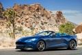 Картинка машина, Aston Martin, суперкар, blue, nice, Vanquish, Volante