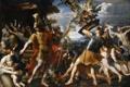 Картинка масло, картина, холст, французский живописец, «Эней с аргонавтами, Франсуа Перье, сражающиеся с гарпиями»