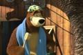 Картинка мультфильм, полотенце, маша и медведь, мочалка