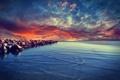 Картинка камни, балтийское море, небо, Baltic Sea, вода, море