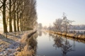 Картинка water, snow, river niers in the niederrhein region germany