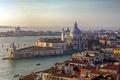 Картинка водоканал, дома, Венеция, дворец, Италия, лодки, море