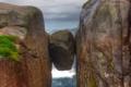 Картинка море, скалы, камень, Норвегия, валун, Rogaland, Kjeragbolten