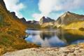Картинка Небо, Вода, Природа, Облака, Фото, Горы, Трава