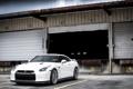 Картинка белый, склад, Nissan, white, GT-R, ниссан
