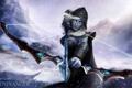 Картинка лук, Drow Ranger, эльфийка, девушка, dota, арт, снег