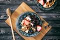Картинка ягоды, завтрак, вафли