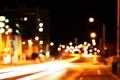Картинка ночь, город, огни, улица, боке