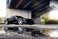 Картинка корвет, chevrolet, Corvette, черный, отражение, шевролет, лужа