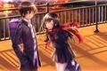 Картинка закат, swordsouls, девушка, форма, art, kagerou project, kisaragi shintarou