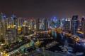 Картинка Дубай, ночной город, Dubai, панорама, ОАЭ, UAE