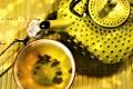 Картинка желтый, чайник, Exotic tea