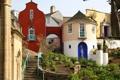 Картинка город, фото, дома, лестница, Великобритания, Wales Penrhyndeudreath