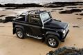 Картинка Песок, Море, Пляж, Волны, Камни, Великобритания, Land Rover