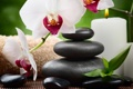 Картинка камни, орхидея, flowers, спа, orchid, stones, candle