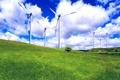 Картинка небо, трава, облака, пейзаж, голубое, поляна, зелёная