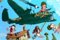Картинка самолет, веревка, пилот, динамит, мина, Worms, Червячки