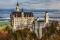 Картинка скала, Германия, Бавария, Germany, Bavaria, Neuschwanstein Castle, Замок Нойшванштайн