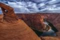 Картинка небо, облака, скалы, каньон, США