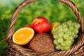 Картинка фрукты, виноград, натюрморт