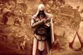 Картинка повозка, Assassins creed, Эцио, Клинки