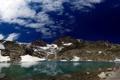 Картинка небо, вода, облака, снег, горы
