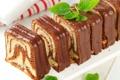 Картинка шоколад, десерт, выпечка, сладкое, начинка, рулет