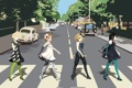 Картинка k-on, beatles, abbey road