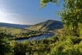 Картинка деревья, мост, река, поля, гора, Германия, Senheim