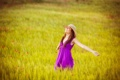 Картинка счастье, радость, relax, фиолетовое платье, улыбка, фон, отдых