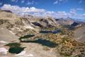 Картинка небо, горы, озера, Калифорния, США, Сьерра-Невада, Kings Canyon National Park