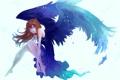 Картинка девушка, крылья, аниме, арт