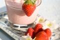 Картинка ягоды, клубника, коктейль, strawberry, cocktail, dessert, milkshake