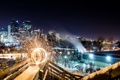 Картинка ночь, город, парк, Calgary