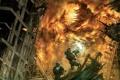 Картинка сражение, воины, монстр, Hellgate London