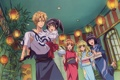 Картинка hyoudou aoi, takumi usui, фонарики, девушки, misaki ayuzawa, Kaichou wa Maid-sama!, аниме