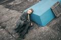 Картинка холод, зима, девушка, серый, арт, Victoria Berngard