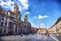 Картинка Рим, Италия, собор, обелиск, Пьяцца Навона, фонтан четырех рек