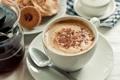 Картинка кофе, завтрак, печенье, латте