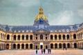 Картинка Дом Инвалидов, двор, люди, купол, небо, Париж, Франция