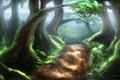 Картинка деревья, природа, тропа