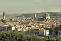 Картинка Флоренция, Италия, Дуомо, панорама, дома