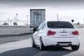 Картинка sedan, BMW, E90, Вид сзади, white, Concept One, фары