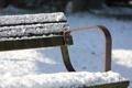 Картинка лавочка, скамейка, зима, снег, холод, парк