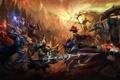 Картинка герои, сражение, League of Legends, LoL