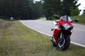 Картинка дорога, красный, мотоцикл, red, suzuki, bike, сузуки