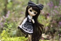 Картинка игрушка, кукла, платье, брюнетка, бант, длинные волосы
